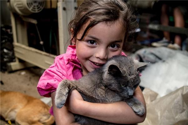 Một gia đình Colombia khác khá giả hơn với mức thu nhập gần 3,7 triệu đồng/người lớn thì có thể cho con gái mình một chú mèo để bầu bạn.