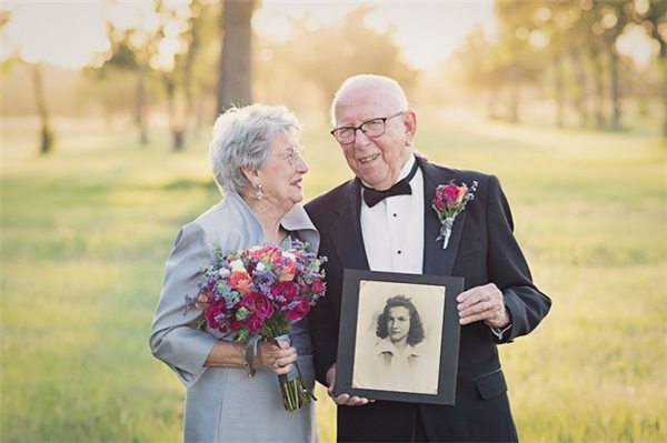 Cặp đôi này đã chờ đến 70 năm để có thể chụp một bộ ảnh cưới