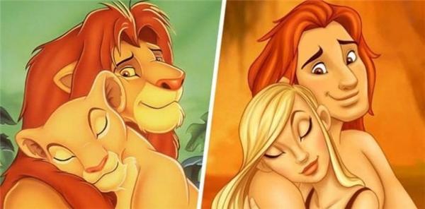 Dù ở hình dạng thú hay người thì Simba và Nala (Vua Sư Tử)vẫn là một cặp đẹp đôi đáng ngưỡng mộ.