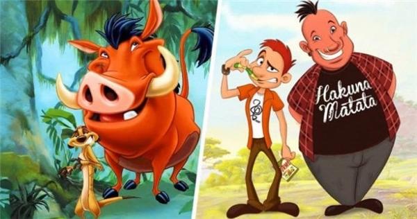 """Còn hai anh chàng Timon và Bumba vẫn cứ thế - """"già đầu"""" nhưng vẫn nhí nhố."""