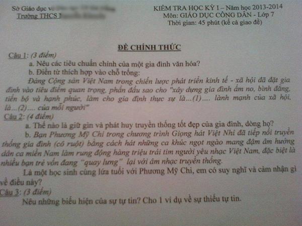 Độ hot của sao Việt còn được lan tỏa qua đề thi phổ thông, Đại học