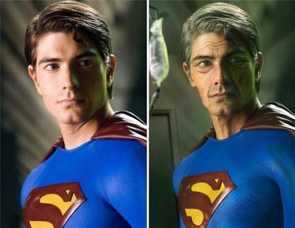 Không ngờ khi Superman già đi, anh trông giống với một thây ma đến thế.