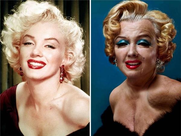 Marilyn Monroe trông như một mụ phù thủy nào đó trong các bộ phim hoạt hình dành cho thiếu nhi.