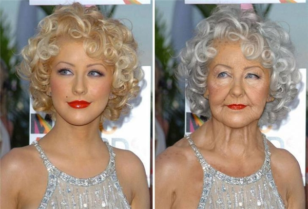 Christina Aguilera, cụ già có phong cách diva nhất thế giới.