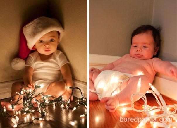 Cho con nằm ểnh ương tận hưởng không khí Giáng Sinh tí đi mà.