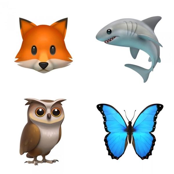 Emoji cáo, cá mập, cú, bướm.(Ảnh:Business Insider)