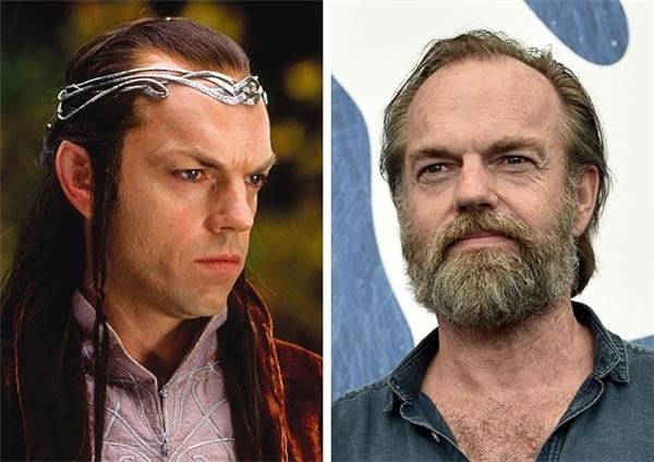 Elrond (Hugo Weaving): Sự nghiệp lừng lẫy của Hugo Weaving gắn liền với những vai diễn lừng danh không thể nào quên, chẳng hạn Elrond trong Chúa Nhẫn, V trong V For Vendetta, Điệp viên Smith trong The Matrix, và lồng tiếng cho nhân vật Megatron trong Transformers.