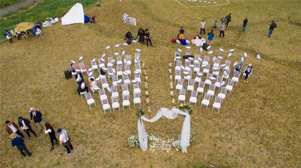 Nơi tổ chức lễ cưới nhìn từ trên cao