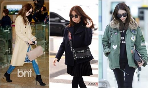 Cô nàng liên tục thay đổi phong cách, nhiều style áo khoác được sử dụng. Bộ sưu tập túi xách hàng hiệu của Yoonakhiến nhiều cô gái ghen tỵ.