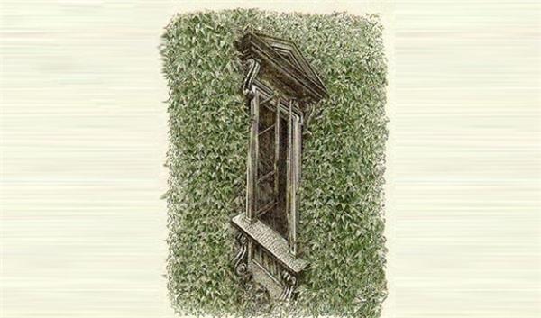 Còn khung cửa sổ này là đang nhìn từ trên xuống hay từ dưới lên? Cánh cửa đang mở ra hay mở vào?