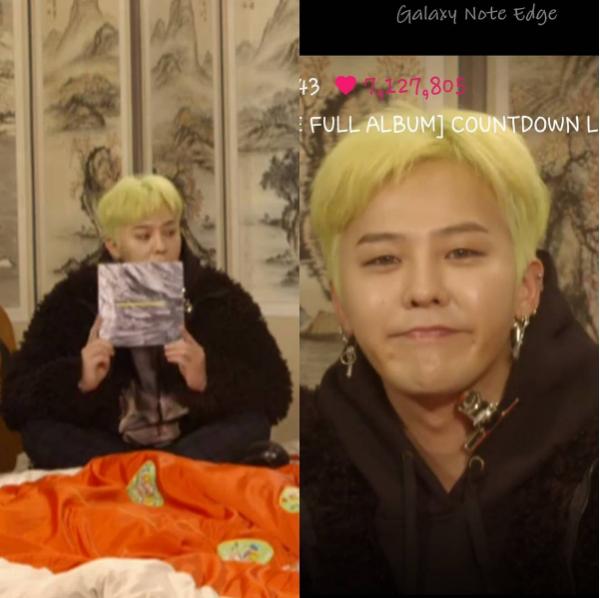 G-Dragon cũng tranh thủ khoeáo hoodie kẹp sắt ngộ nghĩnh của mình với người hâm mộ.