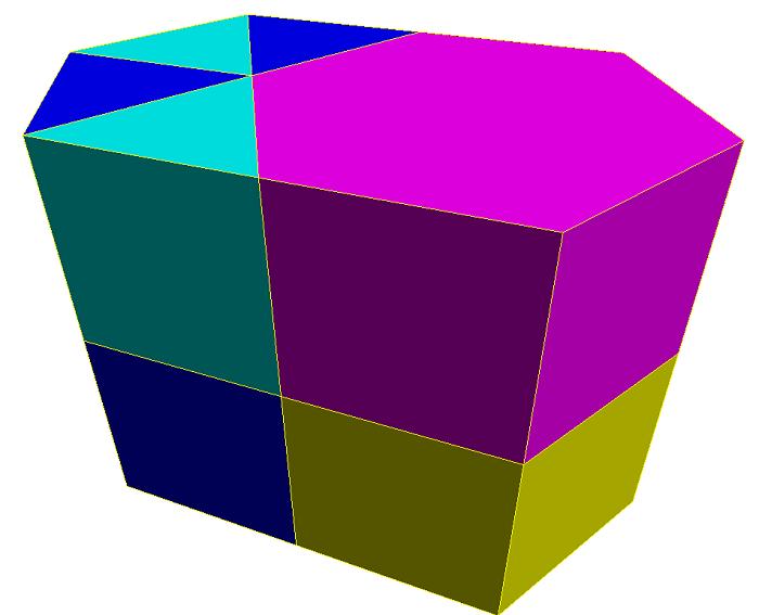 Các màu sắc thuộc xu hướng thiết kế đa diện (Prisma).