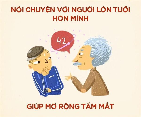 Đừng ngần ngại bắt chuyện và trao đổi với những bậc lão niên nhé!