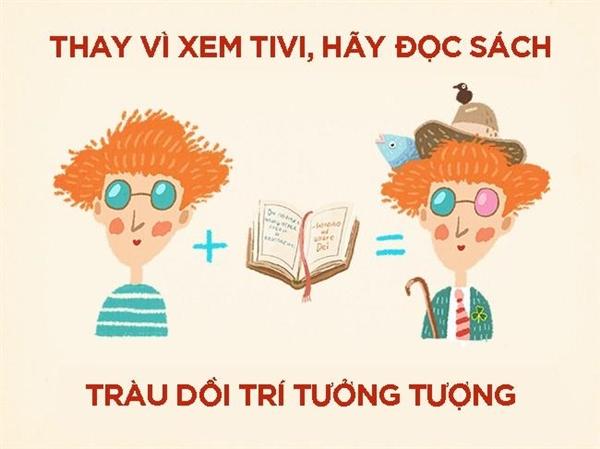 Hãy đọc sách thay vì xem tivi.