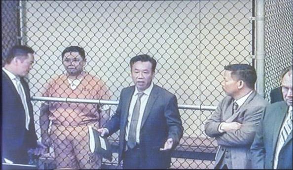 Hình ảnh Minh Béo xuất hiện trong phiên tòa luận tội đầu tiên vào ngày 15/4.
