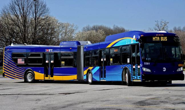 Mẫu xe bus được trang bị Wifi tại New York.(Ảnh: internet)