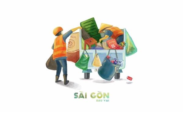 Đó là một Sài Gòn với bóng lưng của những người lao động thầm lặng, chăm chỉ hoàn thành nhiệm vụ của mình mỗi ngày, góp hương góp sắc cho cuộc đời.