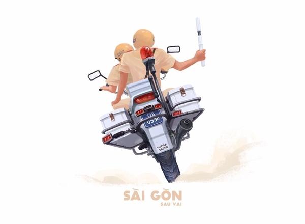 Đó là một Sài Gòn của những người anh hùng trong sắc phục vàng trên mọi nẻo đường, không mệt mỏi, không ngừng nghỉ.