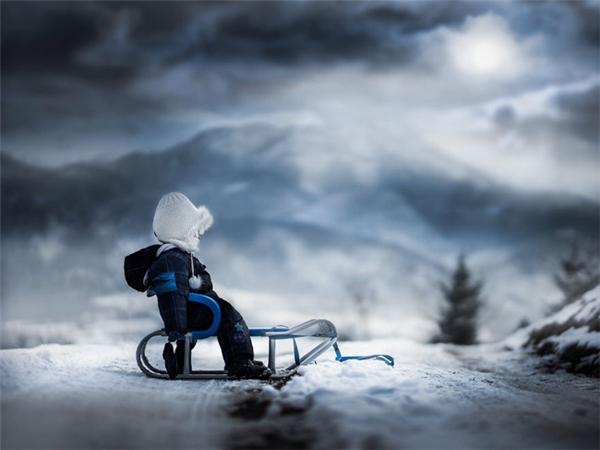 Ấn tượng với bộ ảnh em bé mùa đông lung linh như cổ tích