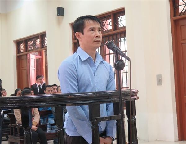 Hình ảnh bị cáo Nguyễn Quang Vinh.