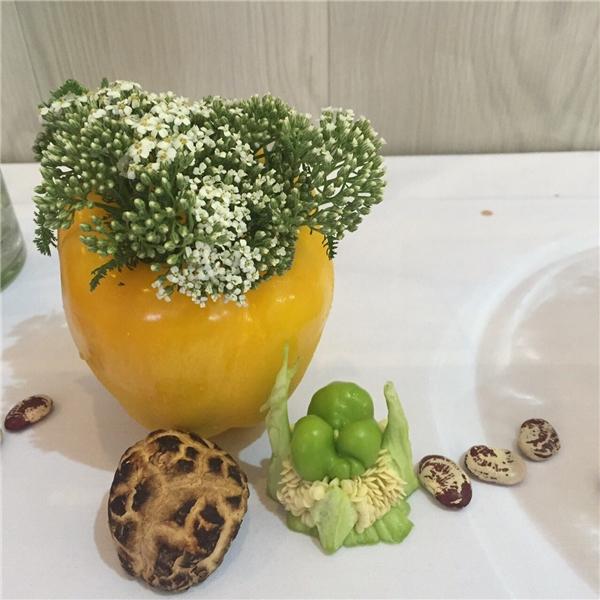 Phần ăn được chuẩn bị cho các người mẫu gồm: sữa chua, trái cây, nước mát,…