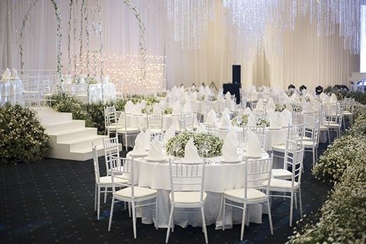 Không gian trang trí được GEM Center tặng cho khách khi đặt chỗ trước cho sự kiện cưới vào năm 2017.