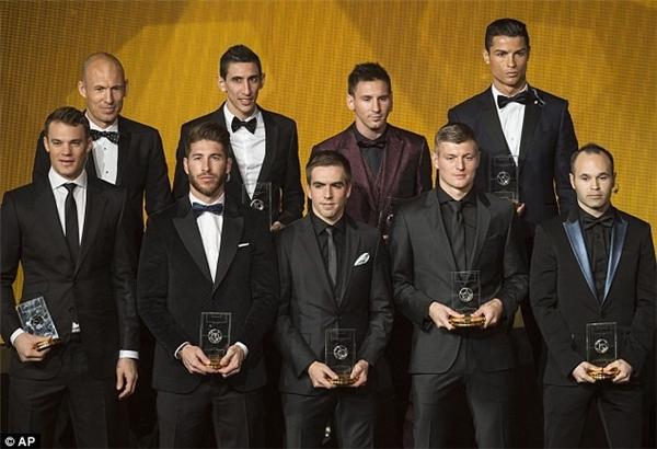 Messi 9 lần có tên ở đội hình tiêu biểu của FIFA từ năm 2007 đến nay