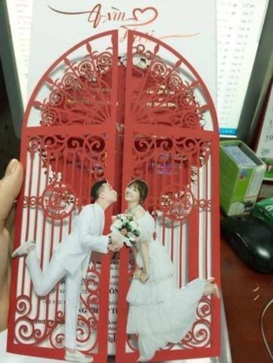 Thiệp cưới Trấn Thành - Hari Won vừa được tiết lộ mới đây trên mạng xã hội. - Tin sao Viet - Tin tuc sao Viet - Scandal sao Viet - Tin tuc cua Sao - Tin cua Sao
