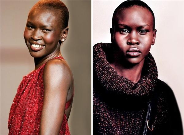 Alek Wek (1977, Nam Sudan): Với nụ cười duyên dáng và dáng điệu kiêu hãnh đầy cuốn hút, ít ai biết rằng từ khi còn nhỏ gia đình Alek phải chạy trốn khỏi Nam Sudan để đến sống tại châu Âu. Và ở London, cô đã được phát hiện. Hiện tại cô đang là một trong những người mẫu thành công nhất thế giới.