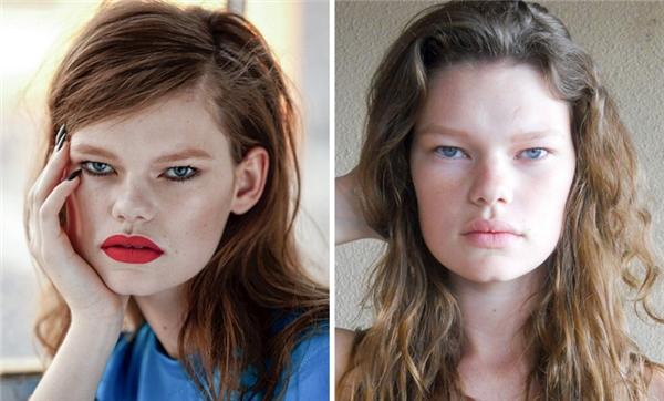 Kelly Mittendorf (1994, Mỹ): Ngoại hình kỳ lạ với những đường nét cực đậm chính là chìa khóa dẫn Kelly đến với thế giới người mẫu. Cô yêu thích ngoại hình của mình và không bao giờ cho rằng nó kém hấp dẫn.