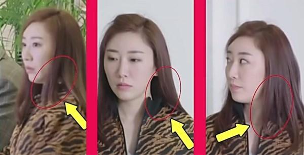Dù không hề có gió thổi hay dùng tay tác động, chỉ trong vài giây ngắn ngủi, vị trí tóc của các nhân vật nữ trong phimthay đổi liên tục đến chóng mặt.