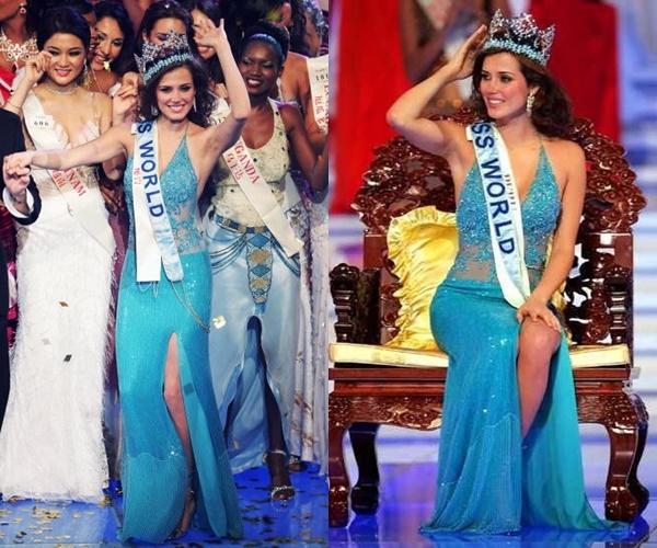 Năm 2004, sắc xanh lại lên ngôi trên sân khấu Hoa hậu Thế giới với chiến thắng của người đẹp đến từ Peru Maria Julia Mantilla.