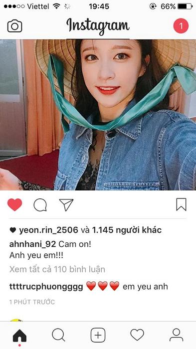 Các thành viên EXID liên tục cập nhật ảnh và caption cho riêng Fan Việt. Đặc biệt, HANI còn viết câu tiếng Việt (Ảnh Instagram).