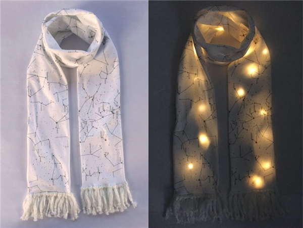 Bạn sẽ sáng nhất Noel với mẫu khăn choàng phát sáng độc đáo