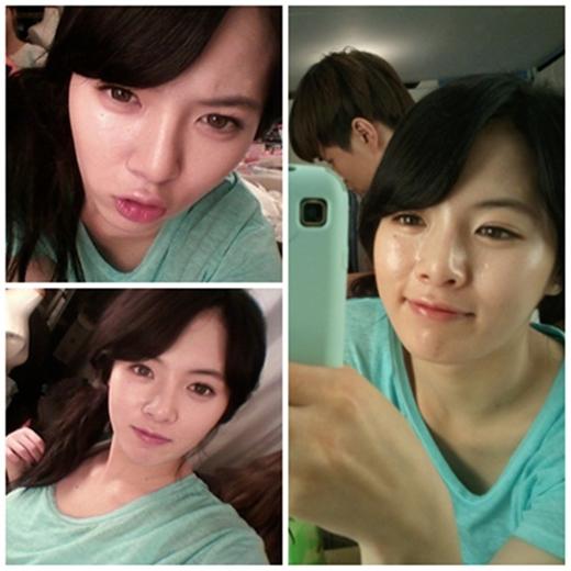 Gương mặt trẻ con của Hyuna khiến nhiều người bất ngờ.