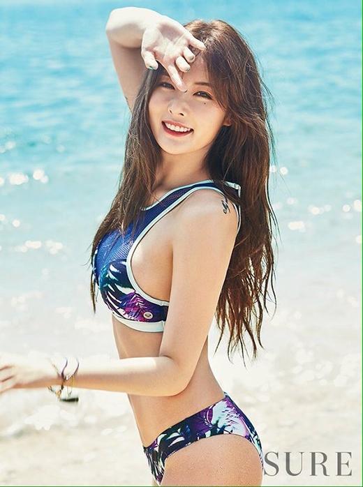 Sexy và quyến rũ chính là những mỹ từ dành riêng cho Hyuna.