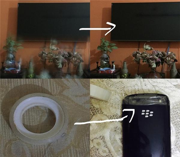 Nếu điện thoại chụp ảnh bị mờ hay nhòe, khắc phục bằng cách dùng băng dính (loại băng trong và không để lại vết keo khi gỡ ra) dán vào camera rồi gỡ ra, chất lượng ảnh sẽ được cải thiện rõ rệt.