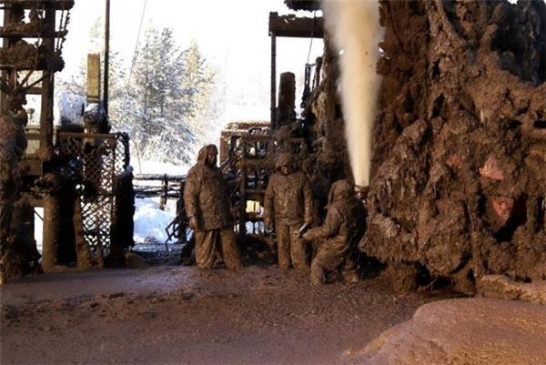Đây là hình ảnh thường thấy của các công nhân khai thác dầu mỏ.