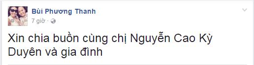 Phương Thanh gửi lời chia buồn trên trang cá nhân. - Tin sao Viet - Tin tuc sao Viet - Scandal sao Viet - Tin tuc cua Sao - Tin cua Sao