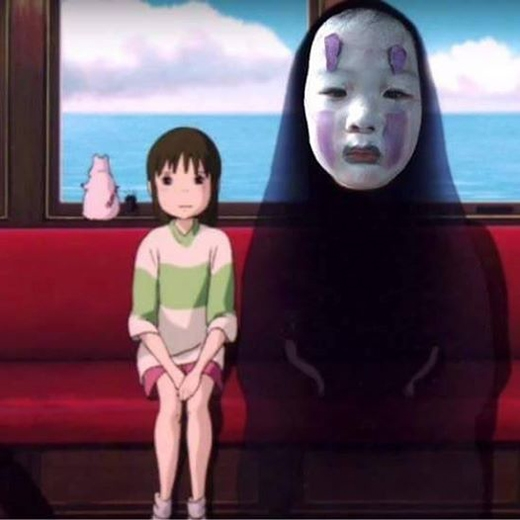 Cô bé là phiên bản Vô Diệnhot nhất từ trước đến nay. Cư dân mạng đã lấy hình cô bé ghép vào cả trong phim.