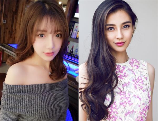 Cô nàng sở hữunhững đường nét đặc trưng trên khuôn mặt giống hệt phu nhân của Huỳnh Hiểu Minh.