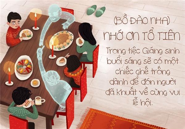 Cũng giống như người Việt Nam thờ ông bà, người Bồ Đào Nha cũng nhân dịp Giáng sinh để đón tổ tiên về chung vui lễ hội với con cháu.