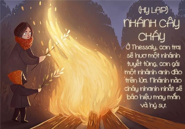 Ngọn lửa ở đây chính là thần may mắn và thần tình duyên đang kéo đến đấy nên bạn hãy vui mừng đi nhé.