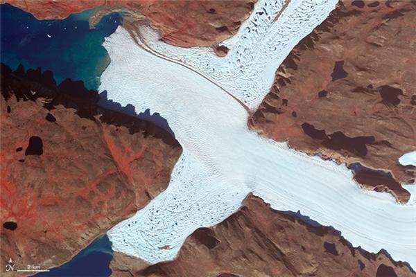 Chữ X:Góc tây bắc của Sông băng Leidy, Greenland