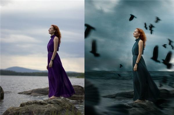 Cảnh hoàng hôn có thể trở nên ma mị hơn rất nhiều nhờ vào Photoshop.