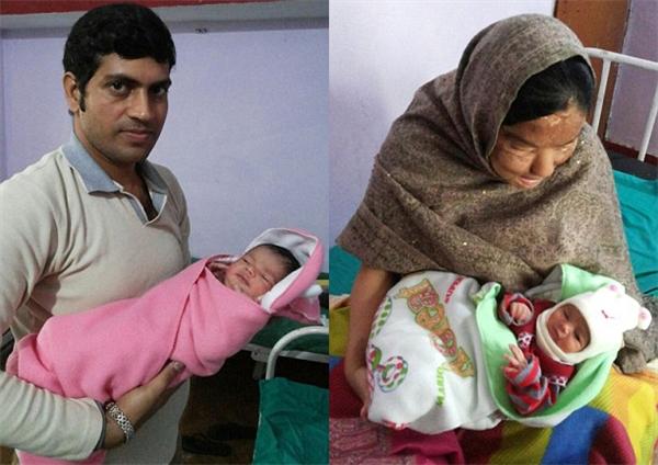 Cặp vợ chồng vừa đón con gái đầu lòng vô cùng đáng yêu.