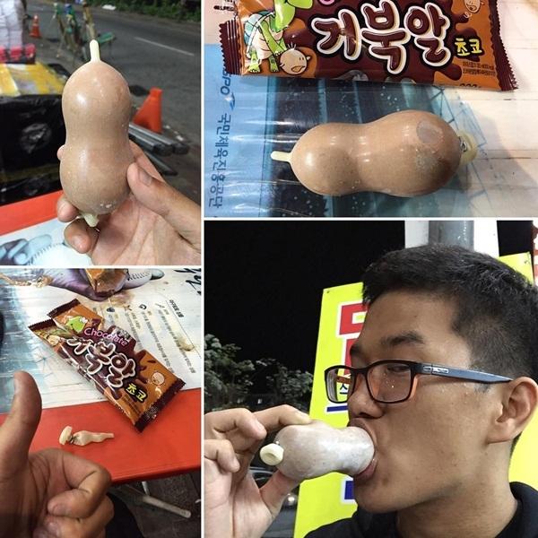 Loại kem hình dáng đặc biệt này đang rất được ưa chuộng tại Hàn Quốc. Một chiếc kem có giá khoảng hơn 30.000 đồng.