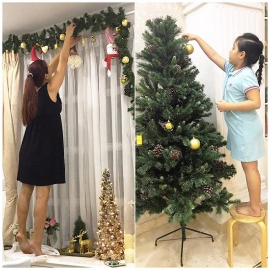 Con gái Suti đang cùng mẹ Thuý Hạnh trang trí nhà cửa để đón Giáng sinh. - Tin sao Viet - Tin tuc sao Viet - Scandal sao Viet - Tin tuc cua Sao - Tin cua Sao