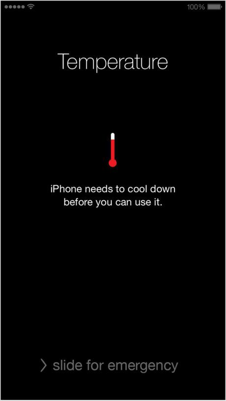 Hiện thông báo quá nhiệt trong khi máy không hề bị nóng. (Ảnh: internet)