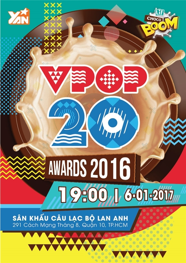 Poster thông tin chính thức của Vpop 20 Awards 2016. - Tin sao Viet - Tin tuc sao Viet - Scandal sao Viet - Tin tuc cua Sao - Tin cua Sao